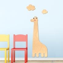 [우드스티커] 기린과구름 (반제품) 아이방스티커