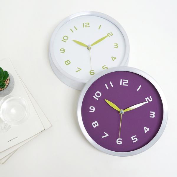 베이직무소음벽시계(2color)